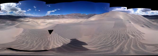 Eureka Dunes panorama - copyright Michele Stern 2013