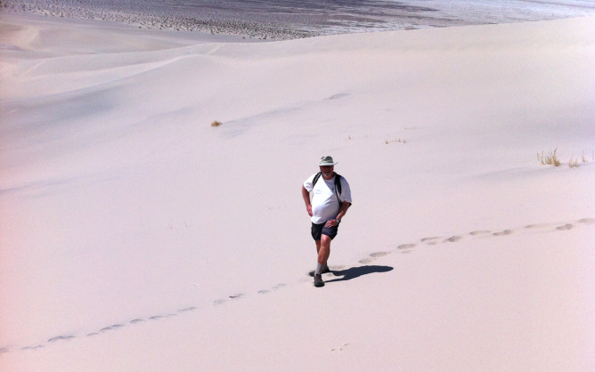 Steve at Eureka Dunes (by Michele)