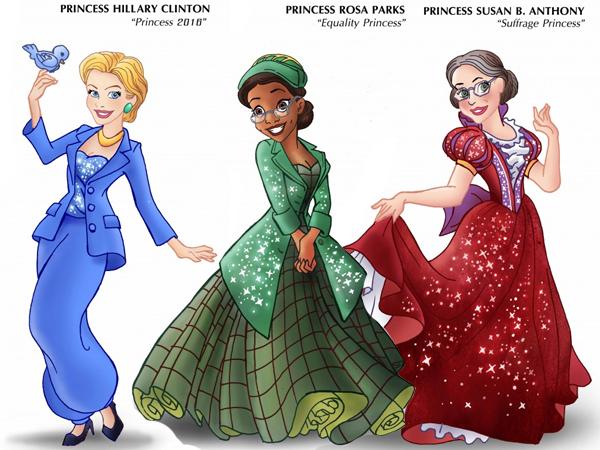 Artist-Turns-Female-Role-Models-Into-Disney-Princesses-600x450